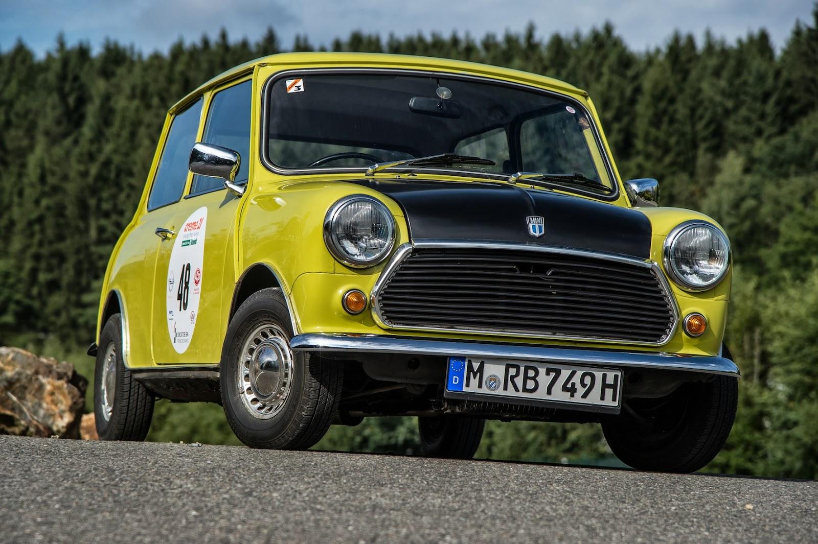 Mini Kühlschrank Pininfarina : Zurück in die er mit dem classic mini von mr bean auto und